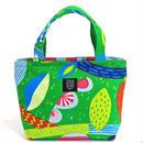 mini tote BAG「うずまきフラワー」green