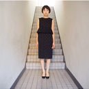 TARO  HORIUCHI/ペプラムラッフルドレス