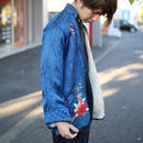 ~60's japan vintage embroidery blue jacket