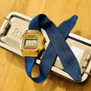 Rich Gone Broke ( Gold digital Case- Denim Liberty Strap)