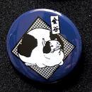 金谷ネコバッジ/紺青色(こんじょういろ)