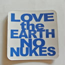 LOVE the EARTH NO NUKES マグネット