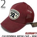 old-1442-win - カリフォルニア メッシュキャップ(ワイン)【 OLDMAN'S オールドマンズ 】-G-( CALIFORNIA CAP アメカジ 帽子 スナップバック )