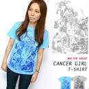 bg012tee - 蟹座 ガール( Cancer Girl )Tシャツ -G- かに座 ギリシア神話 星座 神話 コラボT