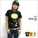sp021tee - SOUL 80(ビックアフロ)Tシャツ -G- メンズ レディース アメカジ おしゃれ ソウル ミュージック 半袖