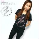 a05-gu - イナズマーク ガールズUネックTシャツ -G- パンクロックTシャツ かっこいい 半袖 レディース