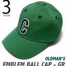 old-2425-gr - エンブレム ボール キャップ(グリーン) - OLDMAN'S -G-( CAP ベースボールキャップ アメカジ 野球帽 帽子 )