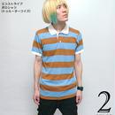 altv-g1905-ttbu - エコストライプ ポロシャツ(トゥルーターコイズ)- Alternative Earth -G-( オルタナティブ アース  アメカジ ボーダー 半袖 メンズ )