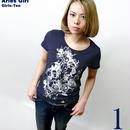 bg016gu - 牡羊座ガール ( Aries Girl )ガールズ UネックTシャツ - baster great -G-( おひつじ座 アリエス 星座 神話 星占 イラスト )