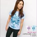 bg017tee - 山羊座ガール(Capricorn GIRL)Tシャツ -G- 半袖 メンズ レディース やぎ座 星座 かわいい コラボTシャツ