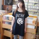 har002opt - ブラックモンスター Tシャツワンピース -HARIKEN-G- コラボ ロックTシャツ ギター ブラック 黒 半袖