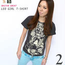 bg020tee - 獅子座ガール(Leo Girl)Tシャツ - baster great -G-( しし座 ライオン 神話 星占 コラボTee )