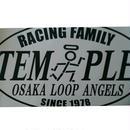 TEMPLE RACING FAMILY 楕円切り抜きステッカー スーパーBIGサイズ