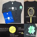 ユニセックスTU35 テニスユナイテッドボール&ラケット柄長袖 Tシャツ