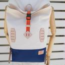 帆布BACKPACK(ホワイト×ブルー×オレンジ)