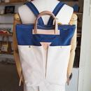 帆布2WAYリュック(ホワイト×ブルー)