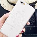 iPhone7 スマホケース  ホワイト最新作【ChromeHearts好きに】クロムハーツデザイン