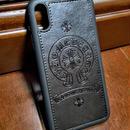 【最新型】iPhoneXスマホケース 最速!最新作♪【ChromeHearts TYPE】クロムハーツタイプデザイン ブラック iphone X