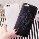 iPhone7 スマホケース ブラック最新作【ChromeHearts】クロムハーツデザイン