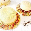 フリンジ刺繍カンカン帽