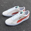 PUMA |SUEDE 90681 (Whisper Wht/Orange.com/ Wht)