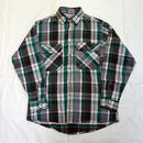 USED(古着)PRIVATE PROPERTY ネルシャツ(グリーン/グレーチェック)