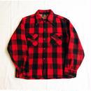 USED(古着) 1950年代 RICE KNIT ウールシャツ(レッド/ブラックチェック))