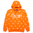 Carrots by Anwar Carrots | Carrots × Mark Mcnairy ALL OVER DAISY WORDMARK HOODIE (ORANGE)