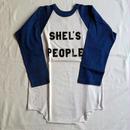 USED (古着)ラグランTシャツ(ホワイト/ブルー)