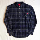 Oh!theGuilt: BIG SILHOUETTE FLANNEL SHIRT(ブラック)