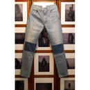 5 Pocket Western  Tapered Patch Denim Pants.