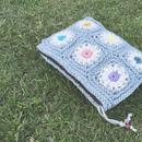 Flower motif  clutch bag by kamie