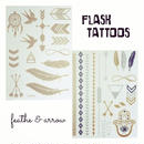 flash tattoo 2枚セット feather
