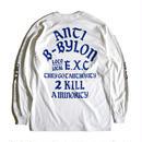 """ANTI"" (ロンT/ホワイト) #EXC-LT03"