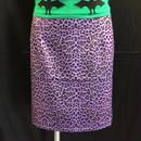 サイズM    SHOW ROOM  レオパード  パープル  ミニスカート