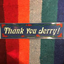 Thank you Jerry ステッカー  gratefuldead