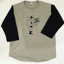 "[Ruminz]""WE ARE THE PEHLWANS "" baseball tee-shirt(gray×black)"