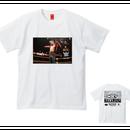 """[NINE RULAZ]NAKAMURA """"Champion"""" tee-shirt(white)"""