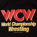 "【WWE】""WCW""  LOGO  tee-shirt(black×red)"