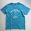 飯伏プロレス研究所 tee-shirt (sea-blue)ステッカー付