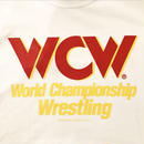 "【WWE】""WCW""  LOGO tee-shirt(white×red)"