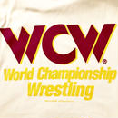 """WCW""  LOGO  tee-shirt(white×purple)"