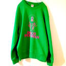 "[五木田智央] ""DISCO PEHLWAN"" crew neck sweat(bright-green)"