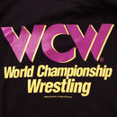 """WCW""  LOGO tee-shirt(black×purple)"