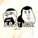 """SHINSUKE NAKAMURA """"BROTHER """" tee-shirt (white)ステッカー付"""