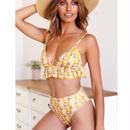 TB-113 Petit Yellow Flower Bikini