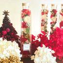Merry christmas ホワイトローズ ハーバリウム ロングタイプ