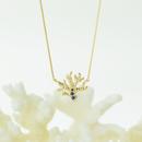 青いサンゴのネックレス  (こちらの商品は受注商品でございます。受注より30日程お時間をいただいております)