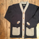 Dapper's(ダッパーズ)/ Classical Two-Pockets Sweat Cardigan/ NAVY-GRAY