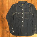 Dapper's(ダッパーズ)/ Triple-Stitched Ventilation Work Shirts / Indigo Polka Dot